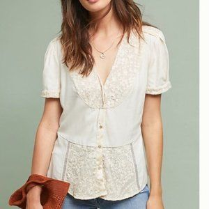 Tiny by Anthropologie Talia Lace Top XL